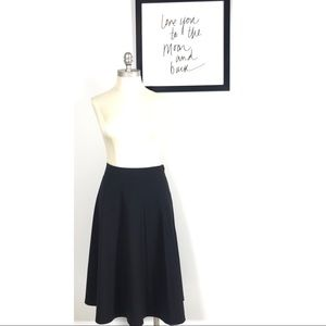 H&M 12 skirt pleated Black Career Casual Cute chic
